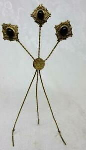 Old Victorian Twisted Wire Picture Easel W Jewel Design Most Unique