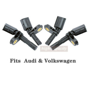 4x Abs Wheel Speed Sensor Front Rear Left Right Fit For Audi Volkswagen Us