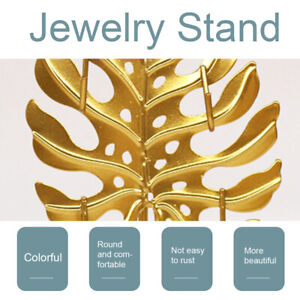 Jewelry Stand Earring Necklace Storage Rack Bedroom Leaves Shape Display Holder