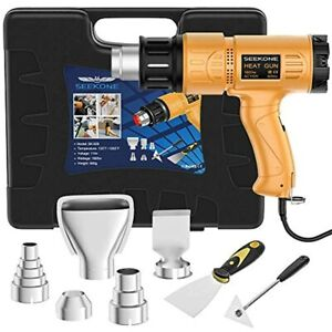 Heat Gun 1800w Kit With Carry Case Variable Temperature Control With 2 temp 4