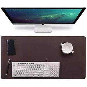 Multifunctional Office Desk Pad 31 5 X 15 7 Waterproof Pu Leather Mouse Mat