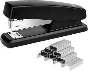 Practical And Non slip Office Stapler With 640 Staples 25 Sheet Capacity Black