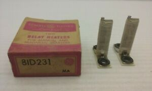General Electric 81d231 Overload Thermal Heating Element box Of 2 Nib