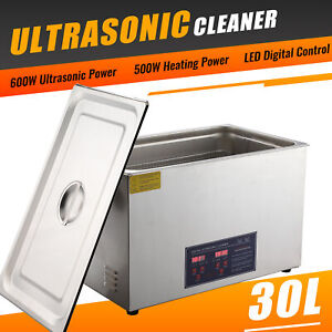 Professional 30l Ultrasonic Cleaning Jewelry Cleaner Machine Heater Timer