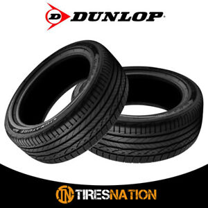 2 New Dunlop Signature Hp 205 55 16 91v All season Performance Tire