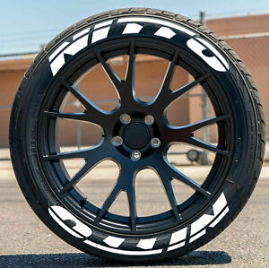 Nitto Permanent Tire Lettering Stickers 14 24 Decal Letters 1 25