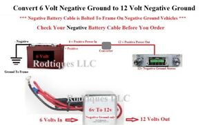 Boost 6v To12 Volt Negative Ground Step Up Voltage Radio Gps Phone Charger Gm