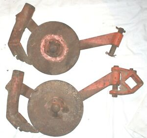 Coulter Wheel Disc Hiller Farm Implement Cultivator Pair 335845