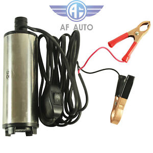 Dc 12v Electric Submersible Transfer Pump Fuel Diesel Water Oil 30l min