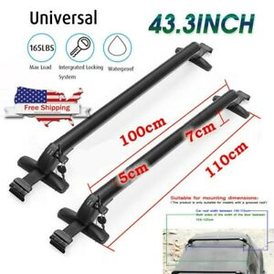 Universal Car Top Roof Rack Cross Bar 43 3 Luggage Carrier With Aluminum Lock