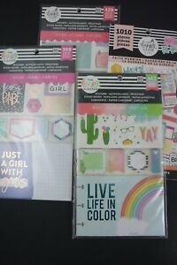 Lot Of 4 Different Happy Planner Value Packs Mint Bonus Story Sticky Notes