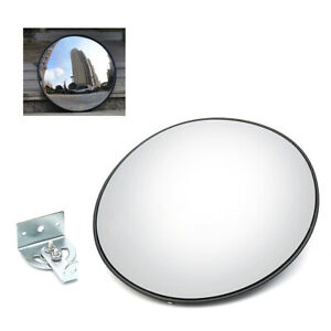30cm Wide Angle Convex Pc Mirror Wall Mount Corner Security Blind Spot Outdoor