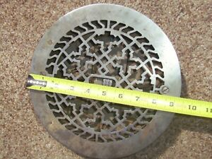 Rare Vintage 8 Ornate Round Cast Iron Adjustable Floor Heater Grate Vent