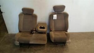 Pair Of Tan Cloth Manual Front Bucket Seats From 2001 Ford F150 Pickup 7253752