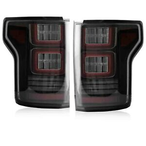 For 15 20 Ford F 150 All Trims 2 Gen Smoked Full Led Taillights W Red Turn Sig