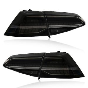 For 16 17 Vw Golf Mk7 Gti Smoke Full Led Taillights W Sequential Mk7 5 Style