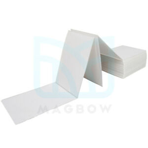 4 X 6 Fan Fold Direct Thermal Labels White Shipping Mailing Postage Labels