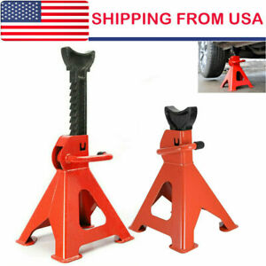 2x Racing Jack Stands 3 Ton 6 000 Lb Heavy Duty For Car Truck Auto