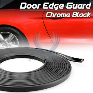 Black Car Door Edge Guard Molding Trim Rubber Seal Strip Scratch Protector Cover