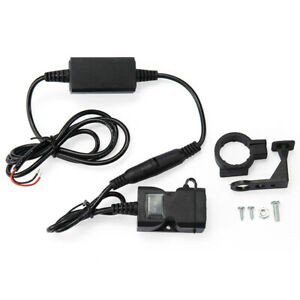 Socket Electronic Motorcycle Cable Adapter 12v Usb Charger Waterproof Universal