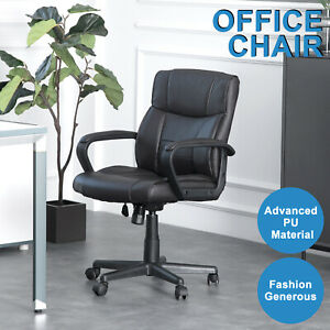 Office Chair High Back Pu Leather Executive Chair Ergonomic Computer Desk Task