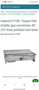 7 Imperial Range Ity 48 48 Stainless Gas Teppan yaki Griddle hibachi Grill