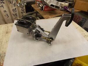Cnc Floor Mount Dual Master Cylinder Brake Pedal With New Master Cylinders