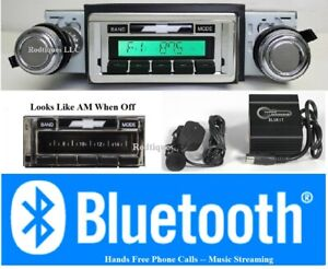 1968 1976 Nova Chevy Ii Bluetooth Radio 300 Watt Stereo usb aux