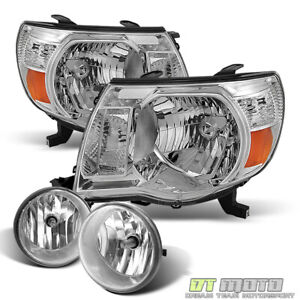 For 2005 2011 Toyota Tacoma Headlights Bumper Fog Lamps Lights W Switch 05 11