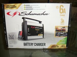 Schumacher Sc1357 6 12v 3 6 Amp Fully Automatic Car Battery Charger Maintainer