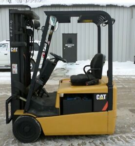 Caterpillar Ep16kt 2003 3000 Lbs Capacity Great 3 Wheel Electric Forklift