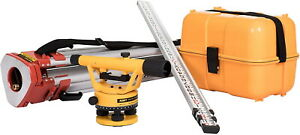 Nwi Nslp100b Siteline Level Package Level Builders Tripod And 9ft Grade Rod New