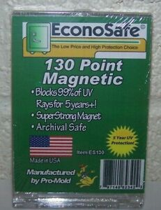 5 Econosafe 130pt Magnetic One Touch Thick Card Holders 130 Pt uv Safe Es130