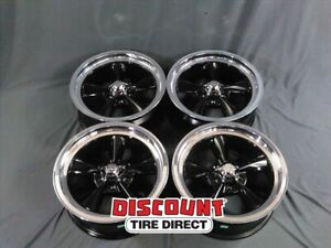 4 Used 17x7 5 114 3 Us Mags Standard U107 Gloss Black W Diamond Lip Wheels Rims
