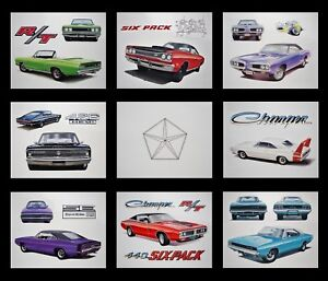 Old Dodge Posters 1971 1972 1973 1974 Charger Super Bee Coronet 360 340 318 225