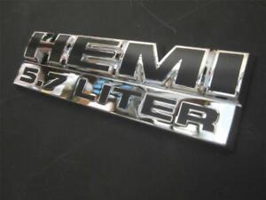 Hemi Chrome Black Emblem Fits For Dodge Ram Pickup 5 7 Liter 5 7l Badge Decal