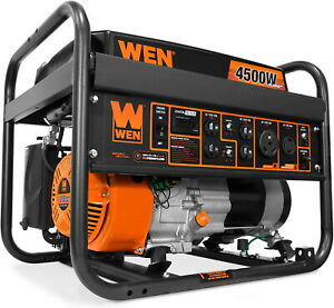 Wen 4 500 w Portable Gasoline Fuel Gas Powered Generator With Electric Start New