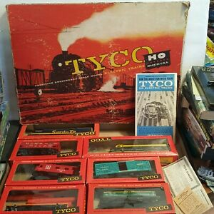 Vintage Tyco Santa Fe blue Bird Ho Train Set No T6306b 1960 s With Boxes Euc