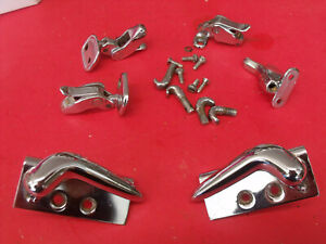 55 Ford Thunderbird T Bird Hard Top Latches Hold Down Hardware Parts Oem