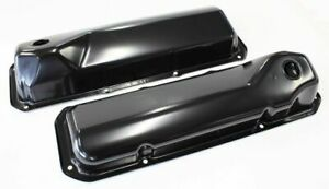 Aeroflow Black Steel Valve Covers Suit Ford 302 351 Cleveland Without Logo