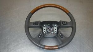 Chevrolet Tahoe Suburban Yukon Escalade Steering Wheel 03 06 Leather Wood