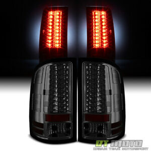 Smoked 2007 2013 Gmc Sierra Lumileds Led Tail Lights Rear Brake Lamps Left right