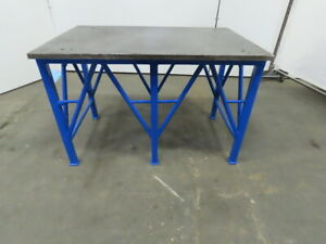 1 Blanchard Ground Steel Fabrication Layout Welding Table Machine Base 44 x29