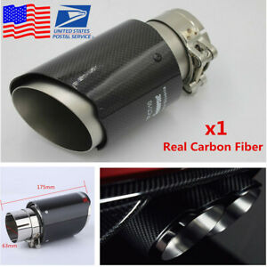 Real Carbon Fiber Car Exhaust Pipe 63mm 89mm Universal Muffler End Tip From Usa