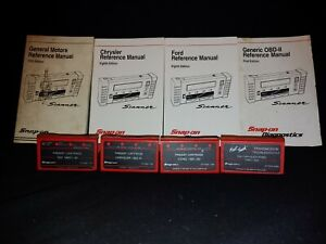 Snap On Mt2500 Primary Troubleshooter Cartridges Gm Chrysler Ford Thru 1990 92