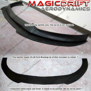 For 15 17 Ford Mustang S550 Performance Front Bumper Addon Splitter Lip Diffuser