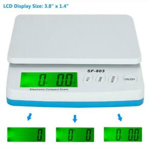 66lb 30kg X 1g Portable Digital Electronic Scale Shipping Postal Scales Adapter