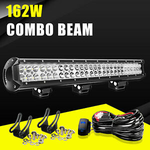 25 Inch 162w Led Work Light Bar Combo Driving Offroad Bumper Lamp Truck Vs 32 30