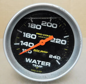 Auto Meter 5433 Pro comp Liquid Filled Water Temp Gauge 120 240 2 5 8 Dia