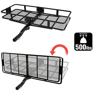 Lonabr 500 Lbs Hitch Carrier Cargo Mount Luggage Rack Fit 2 Receiver Truck Suv